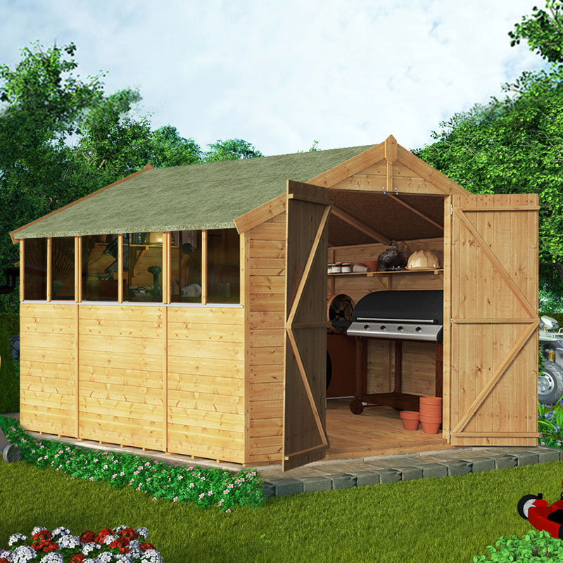 BillyOh 10 x 8 Windowed Tongue and Groove Apex Garden Shed 4000 Range