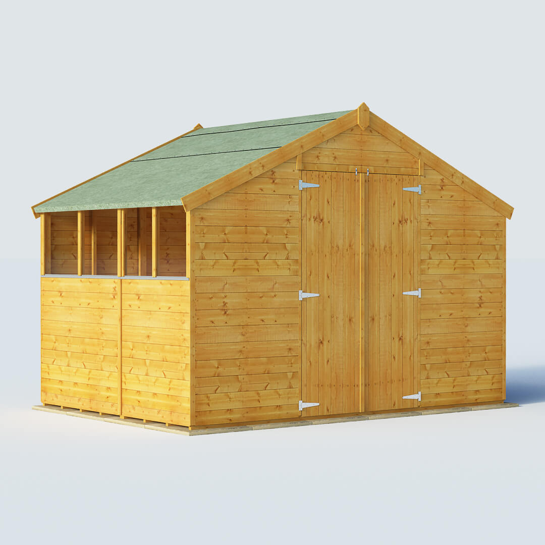 Billyoh 7 x 10 windowed tongue and groove apex garden shed for Apex garden sheds