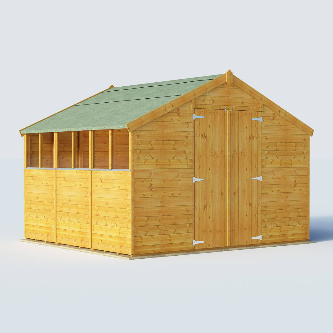 BillyOh 9 x 10 Windowed Tongue and Groove Apex Garden Shed 4000 Range