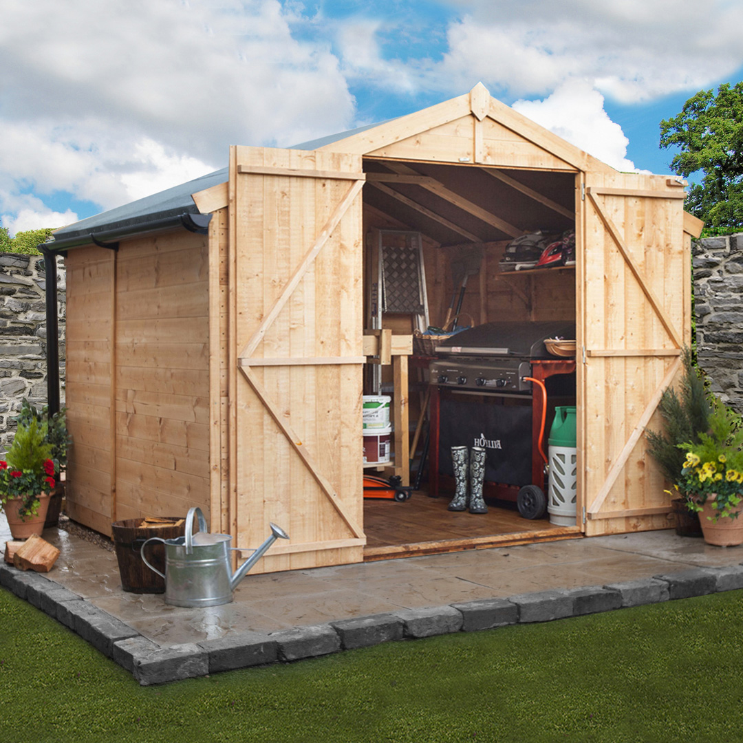 Billyoh 7 x 10 windowless tongue and groove apex garden for Apex garden sheds
