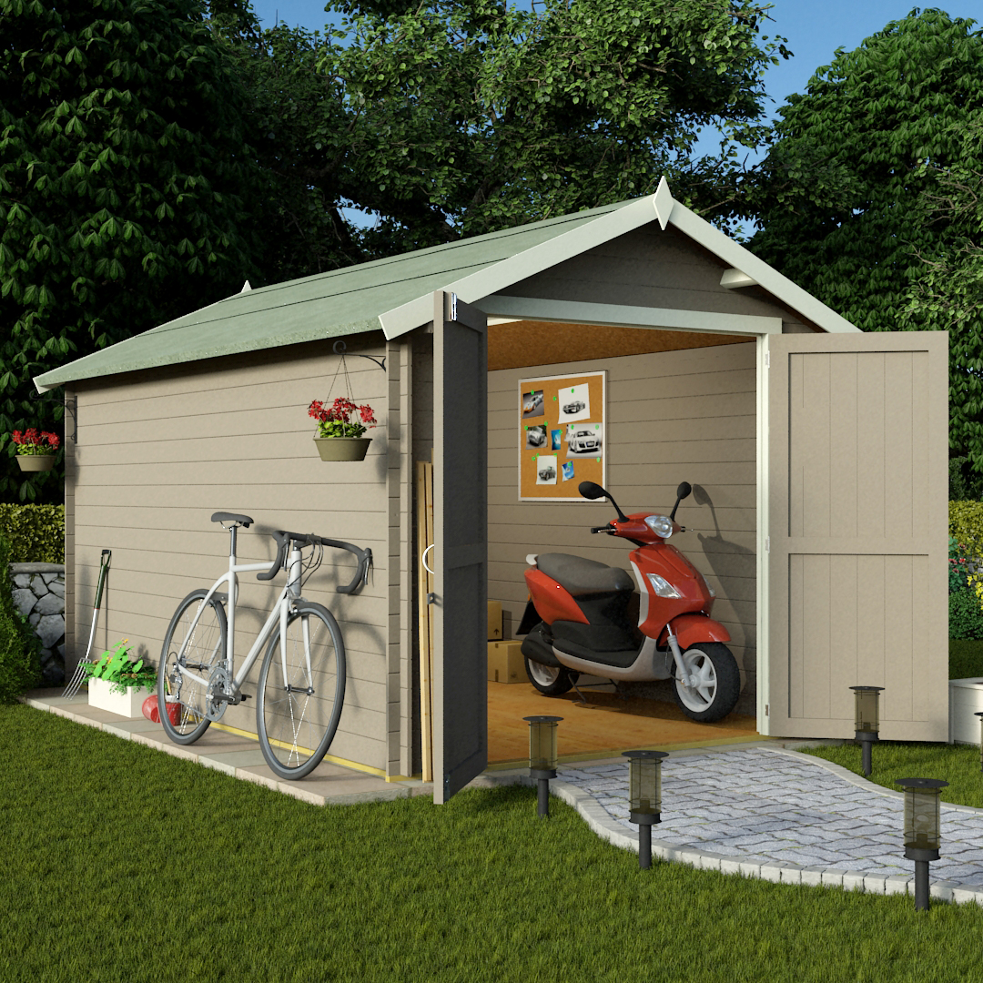 Billyoh 12 x 8 19mm log cabin heavy duty garden shed garden sheds wooden sheds garden - Garden sheds x ...