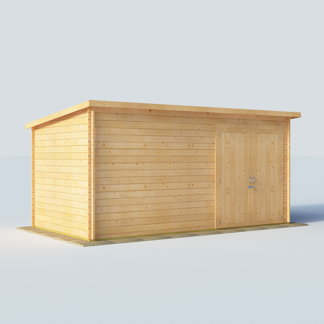 BillyOh 14 x 8 28mm Pent Log Cabin Windowless Heavy Duty