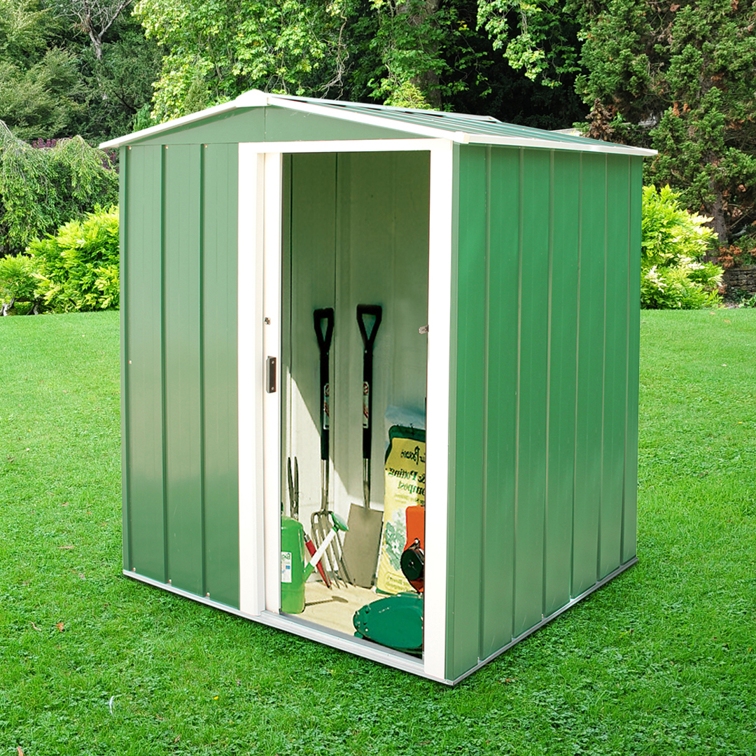 Billyoh partner 5 x 4 mini metal garden shed garden sheds for Garden shed 5 x 4