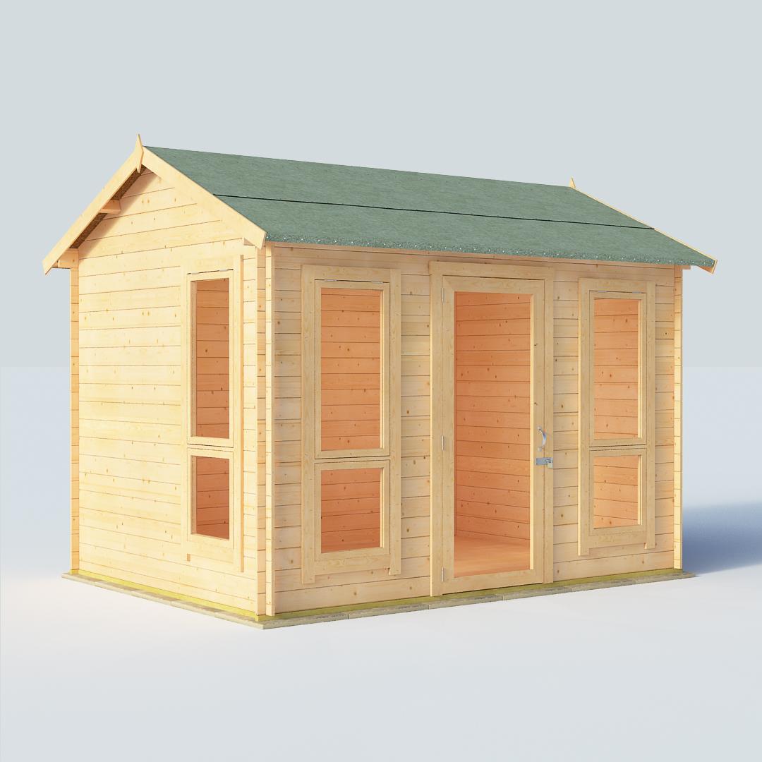 BillyOh Darcy 10 x 8 19mm Modern Log Cabin Summerhouse