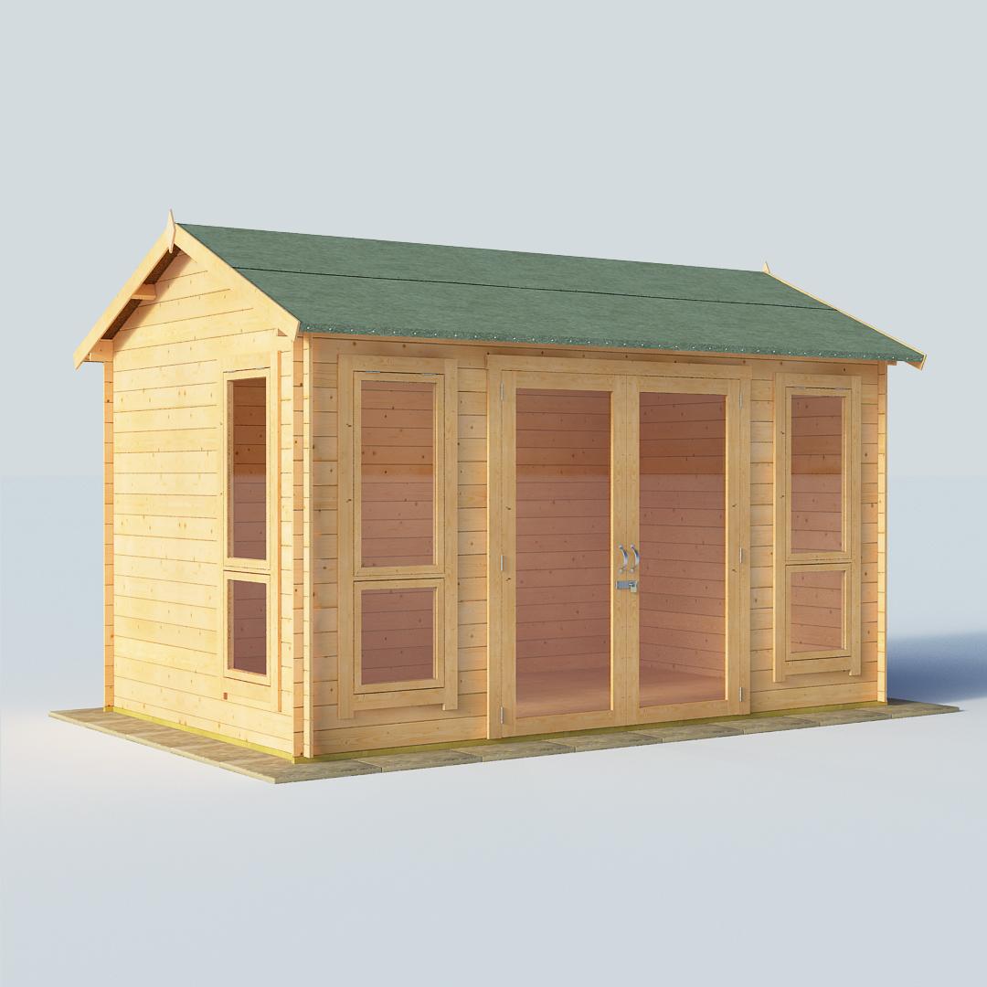 BillyOh Darcy 12 x 8 19mm Modern Log Cabin Summerhouse