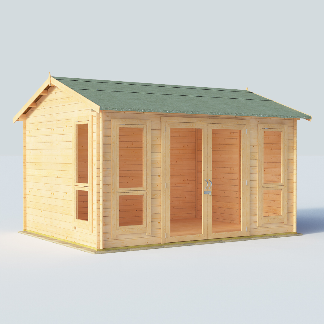 BillyOh Darcy Darcy 12 x 10 19mm Modern Log Cabin Summerhouse