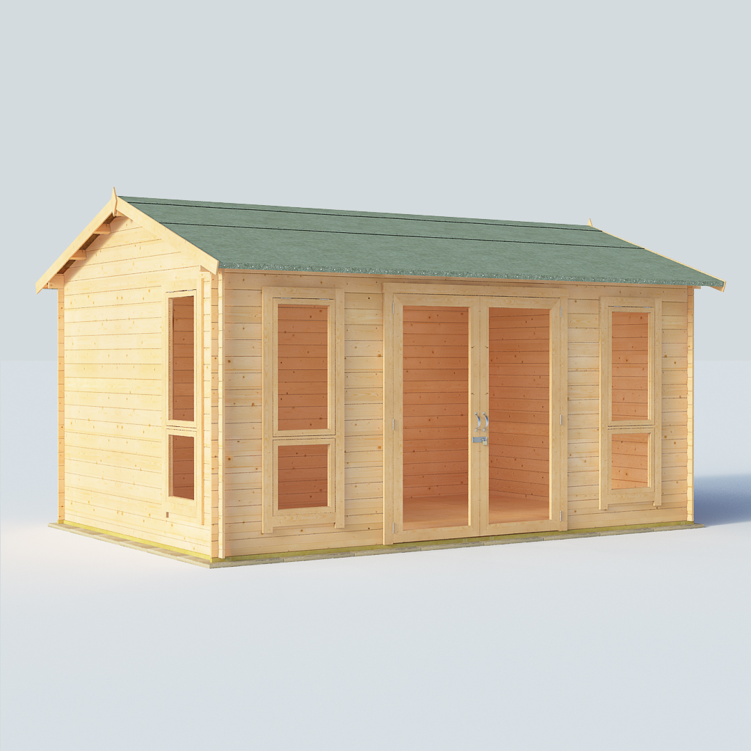 BillyOh Darcy Darcy 14 x 10 19mm Modern Log Cabin Summerhouse