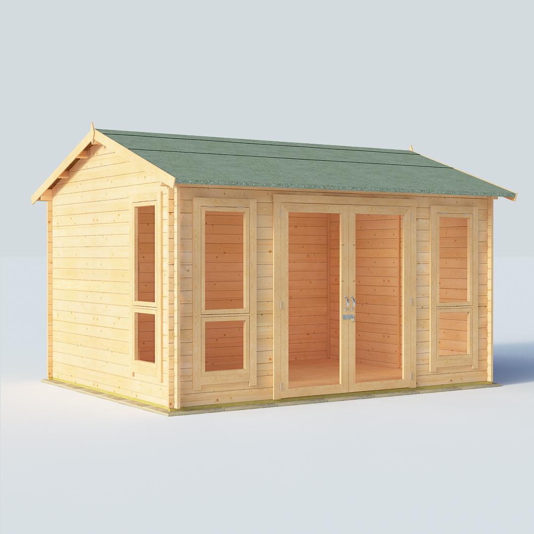 BillyOh Darcy Darcy 12 x 10 28mm Modern Log Cabin Summerhouse