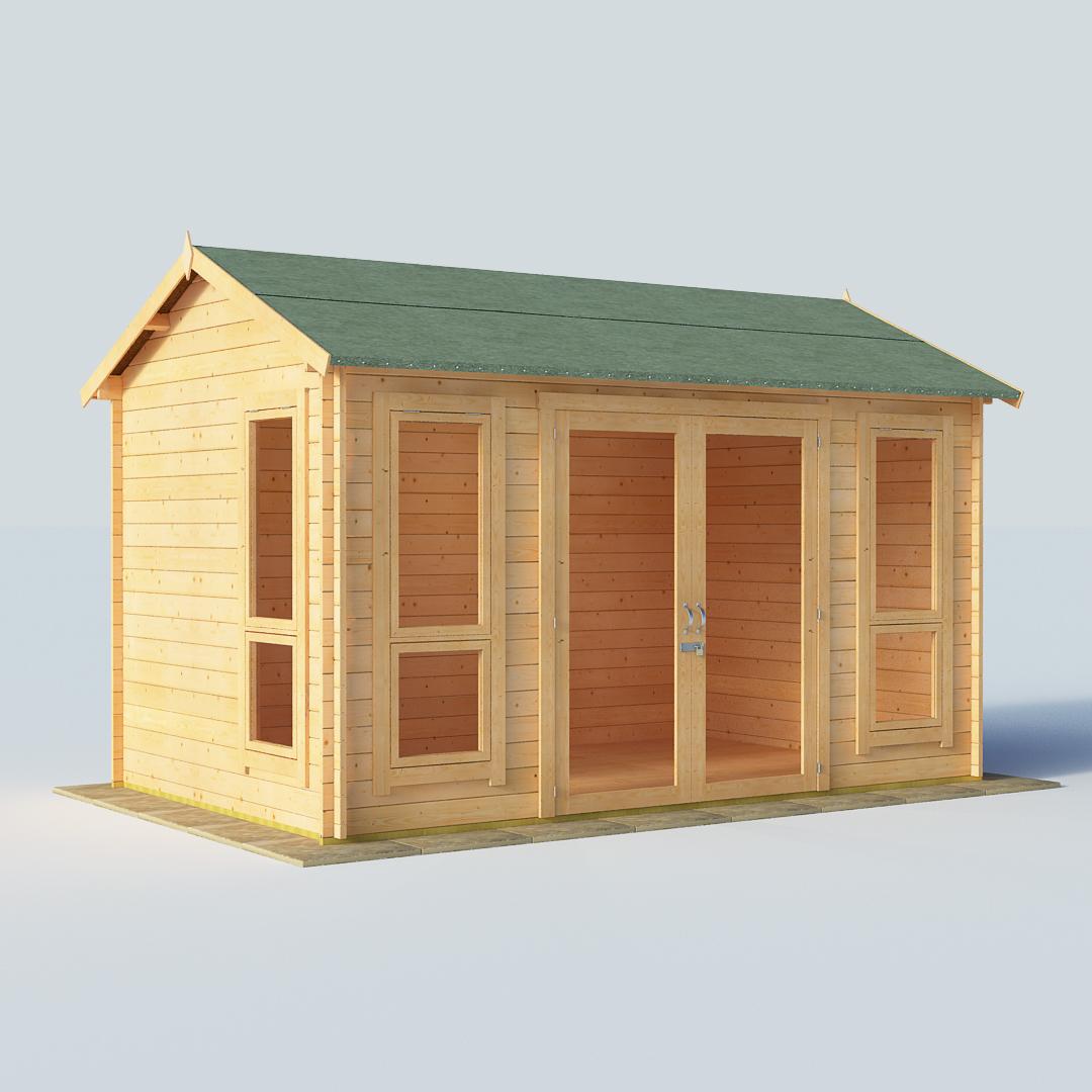 BillyOh Darcy 12 x 8 28mm Modern Log Cabin Summerhouse