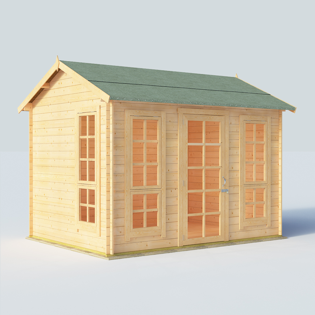 BillyOh Riley 10 x 8 19mm Georgian Log Cabin Summerhouse