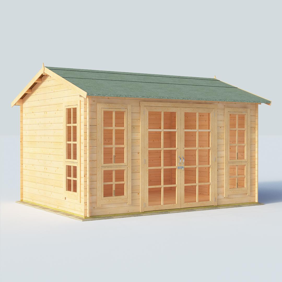 BillyOh Riley 12 x 10 19mm Georgian Log Cabin Summerhouse