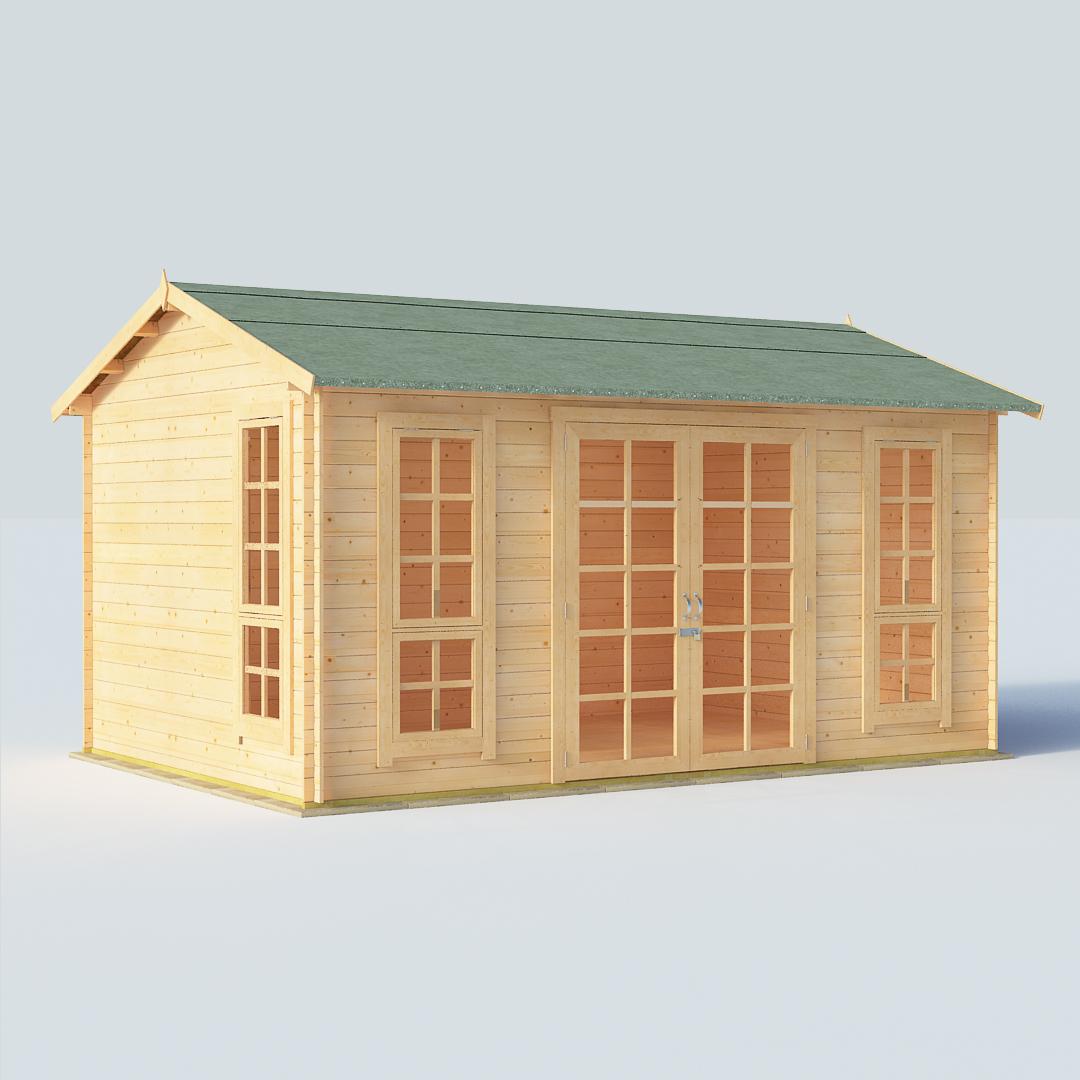 BillyOh Riley 14 x 10 19mm Georgian Log Cabin Summerhouse