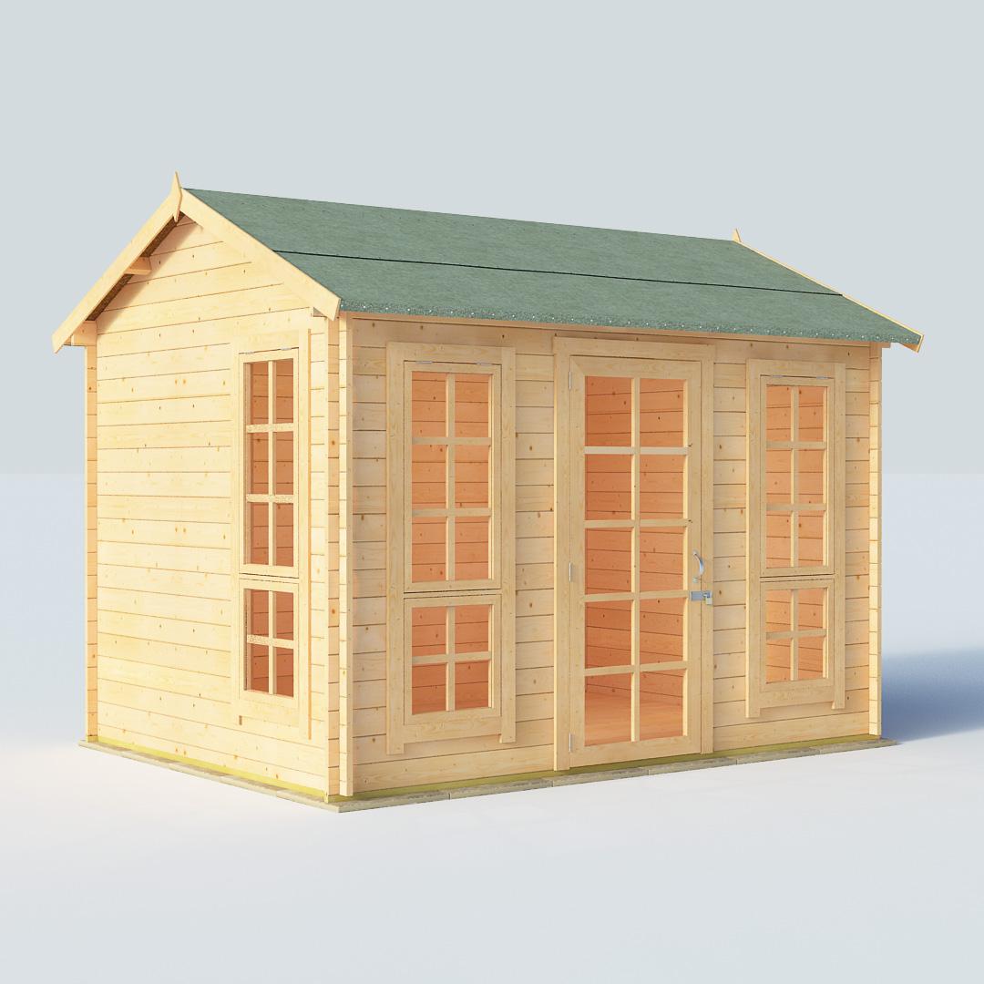 BillyOh Riley 10 x 8 28mm Georgian Log Cabin Summerhouse