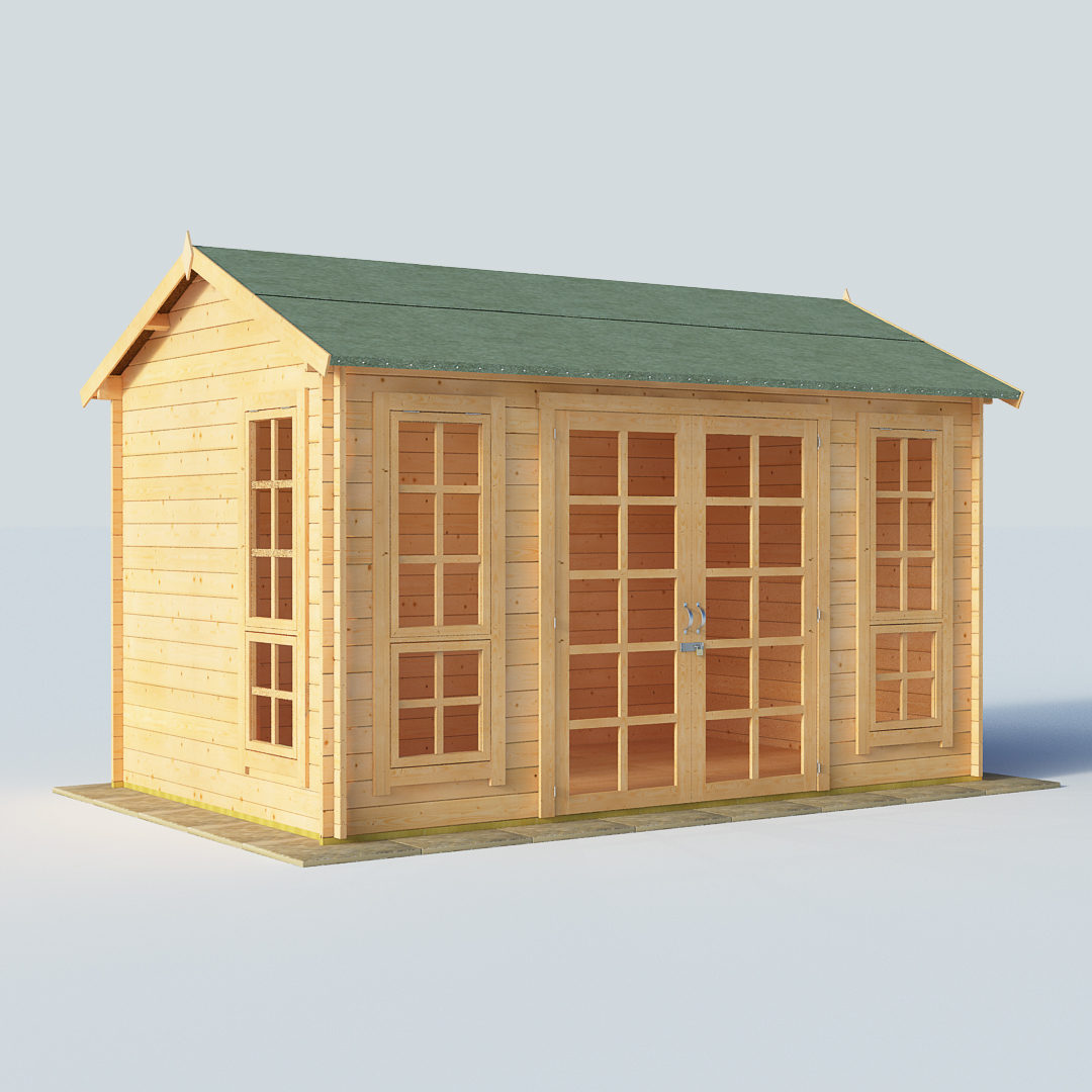 Billyoh Riley 12 X 8 28mm Georgian Log Cabin Summerhouse
