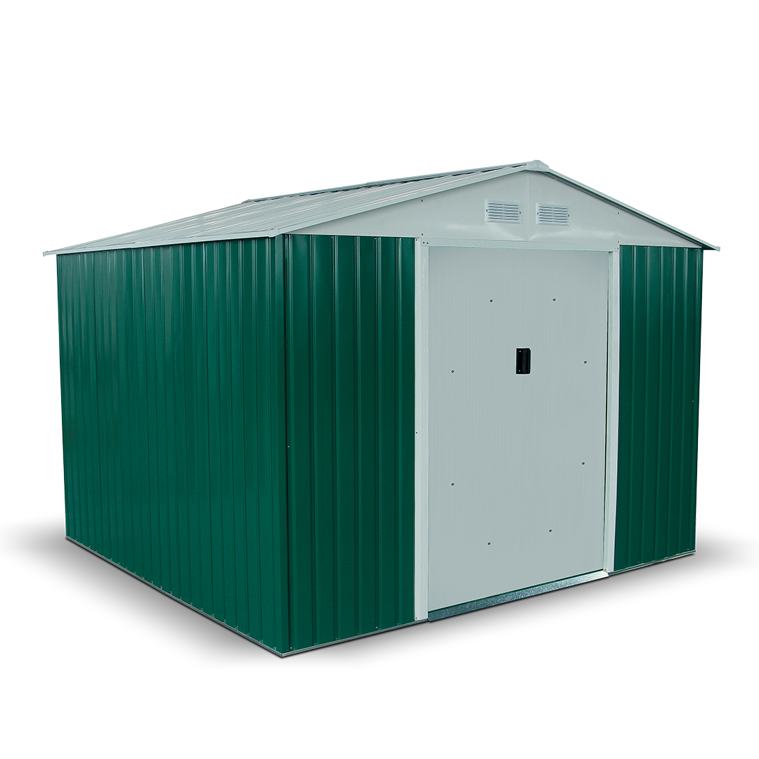 BillyOh Boxer 8 x 9 Dark Green Apex Metal Shed