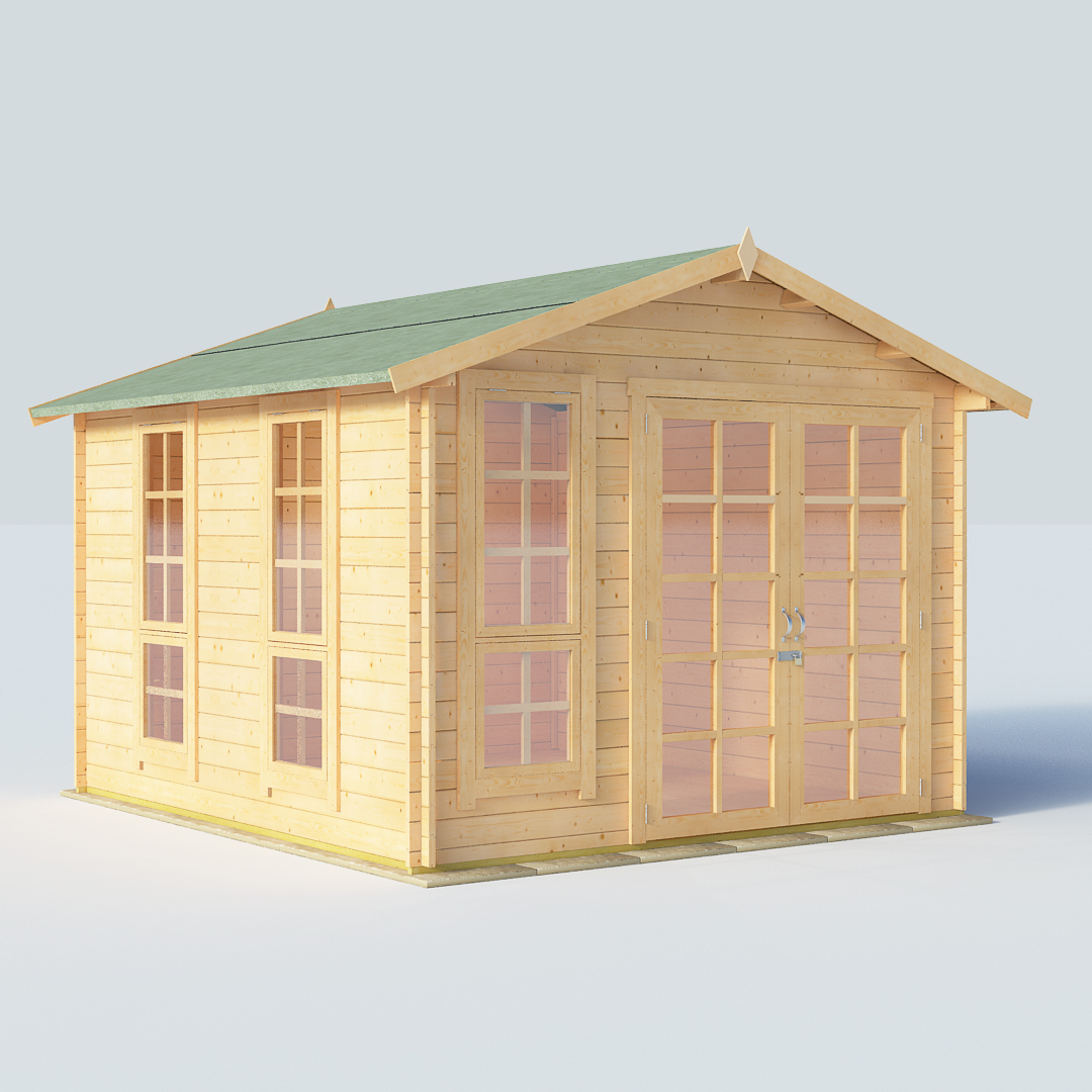 Billyoh Miller 10x10 Georgian Dbl Door 28mm Log Cabin