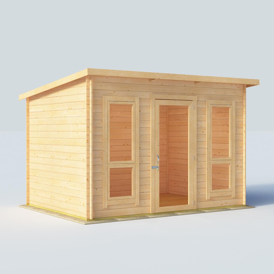 10x8 19mm T&G Pent Windowed - BillyOh Carmen Log Cabin Summerhouse