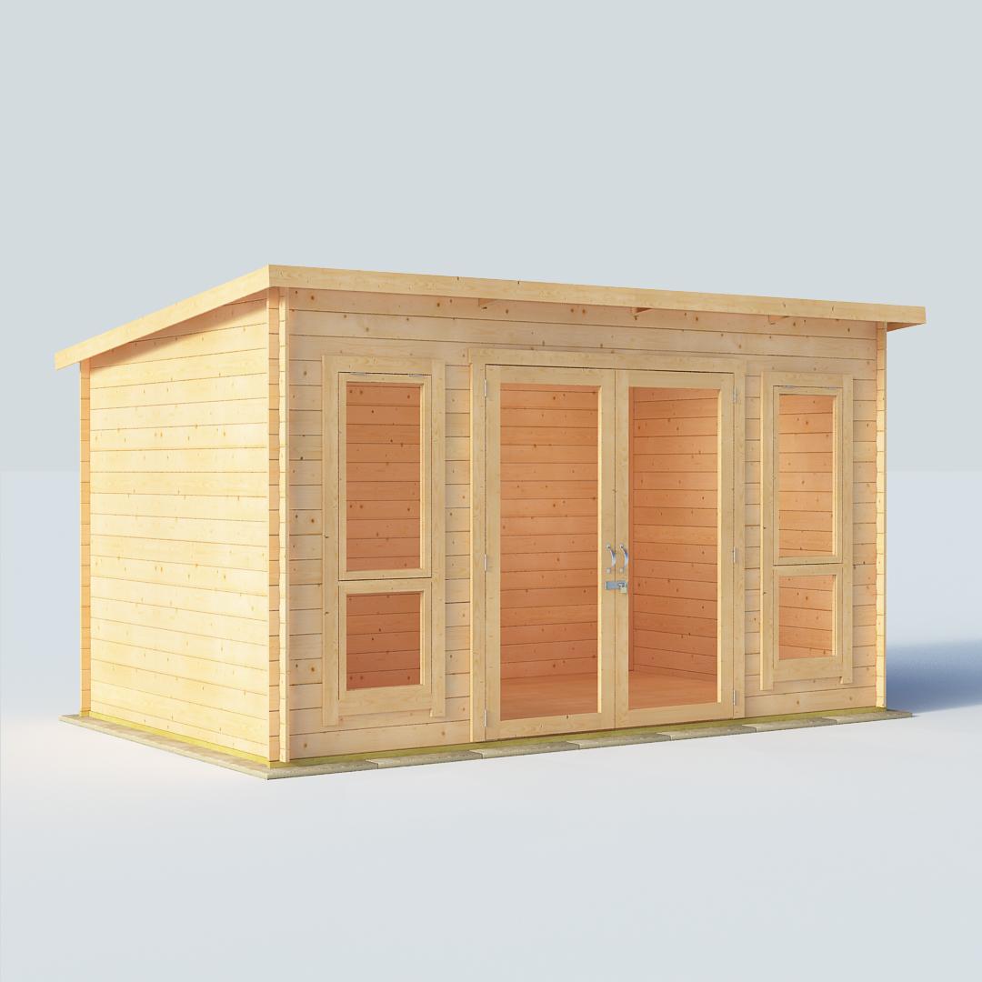 12x8 19mm T&G Pent Windowed - BillyOh Carmen Single Room Log Cabin Summerhouse