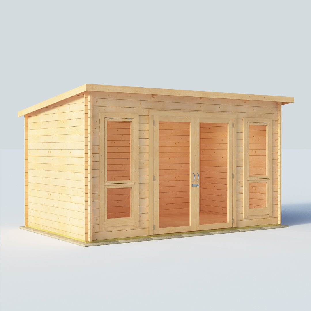 12x8 28mm T&G Pent Windowed - BillyOh Carmen Log Cabin Summerhouse