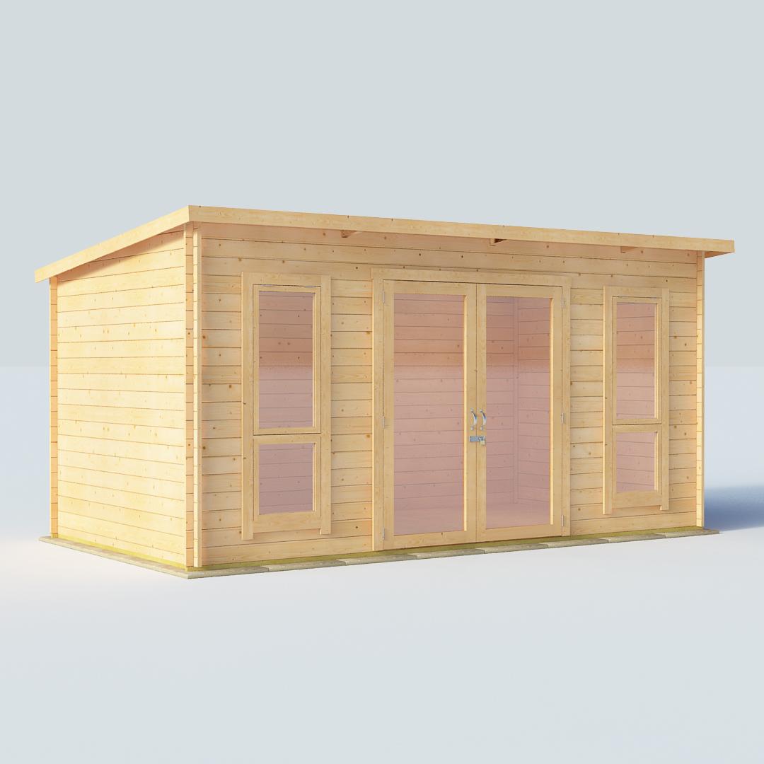 14x8 28mm T&G Pent Windowed - BillyOh Carmen Log Cabin Summerhouse