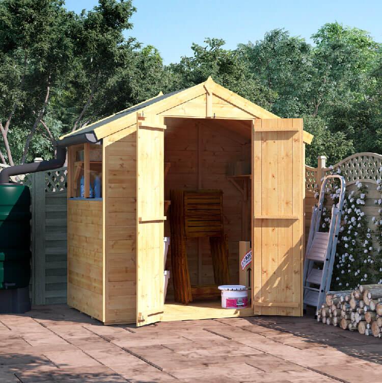 4x6 T&G Apex Windowed - BillyOh Master Garden Shed
