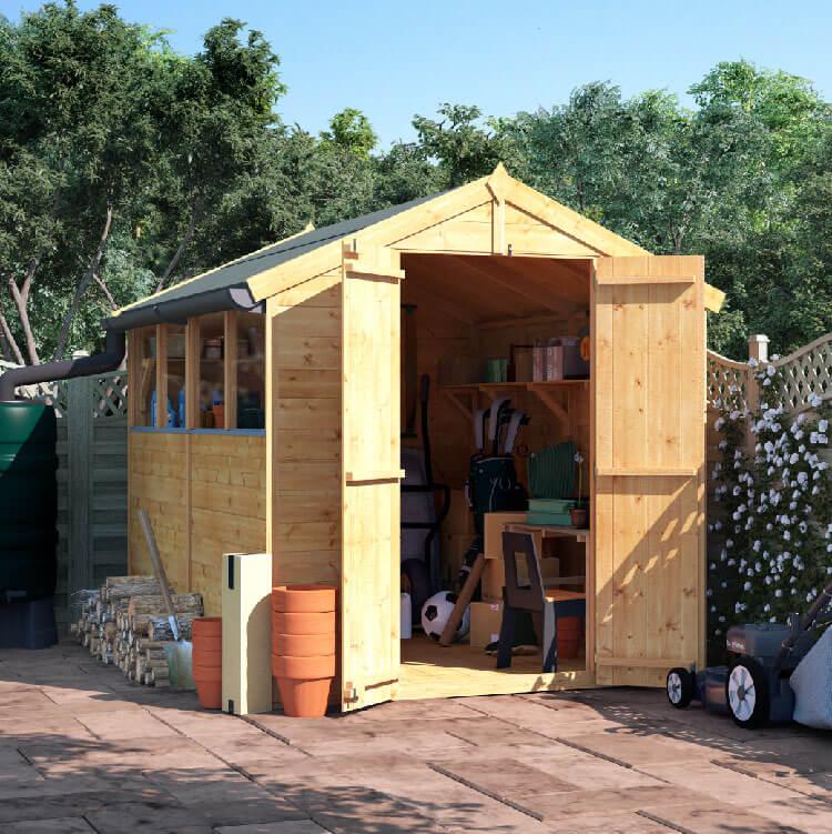 8x6 T&G Apex Windowed - BillyOh Master Garden Shed
