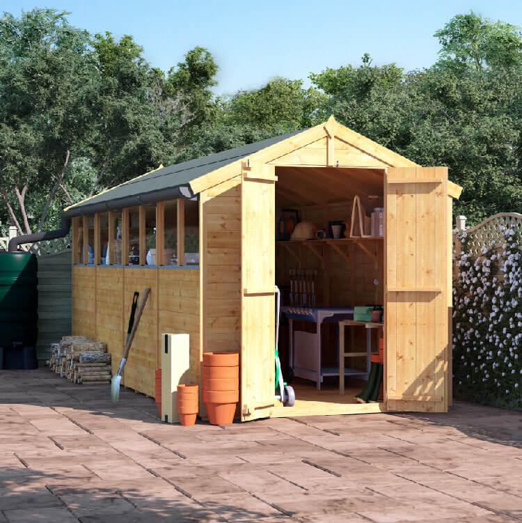 16x6 T&G Apex Windowed - BillyOh Master Garden Shed
