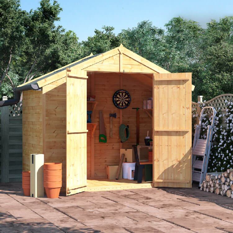 4x8 T&G Apex Windowless - BillyOh Master Garden Shed