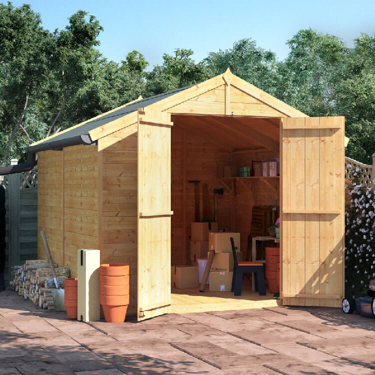 8x8 T&G Apex Windowless - BillyOh Master Garden Shed