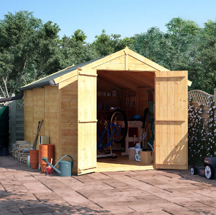 12x8 T&G Apex Windowless - BillyOh Master Garden Shed
