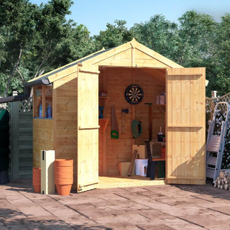 4x8 T&G Apex Windowed - BillyOh Master Garden Shed