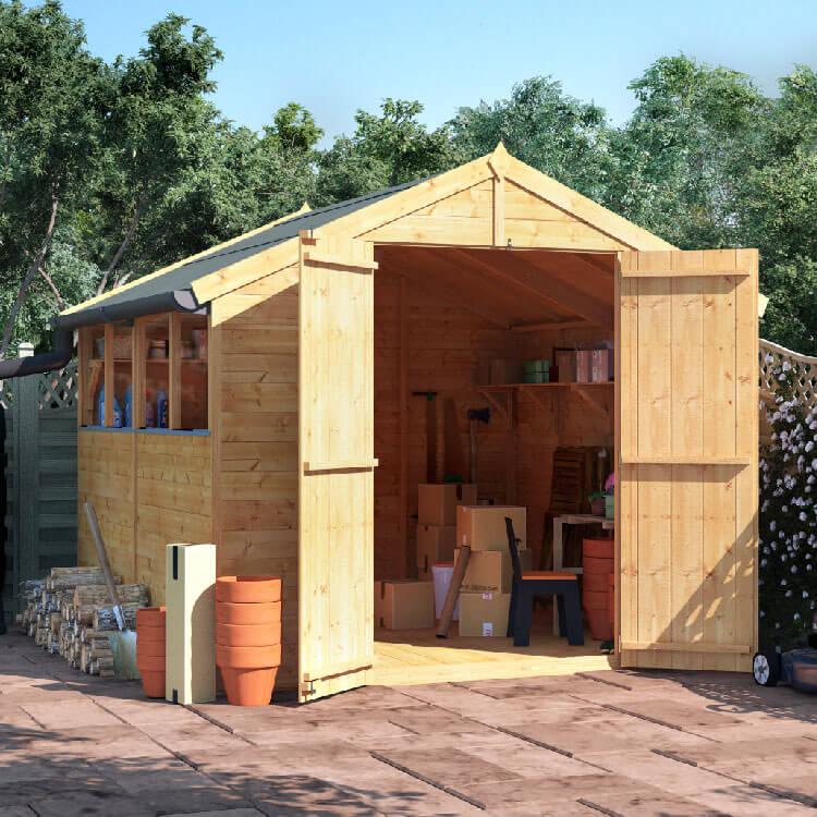 8x8 T&G Apex Windowed - BillyOh Master Garden Shed