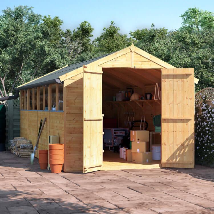 16x8 T&G Apex Windowed - BillyOh Master Garden Shed