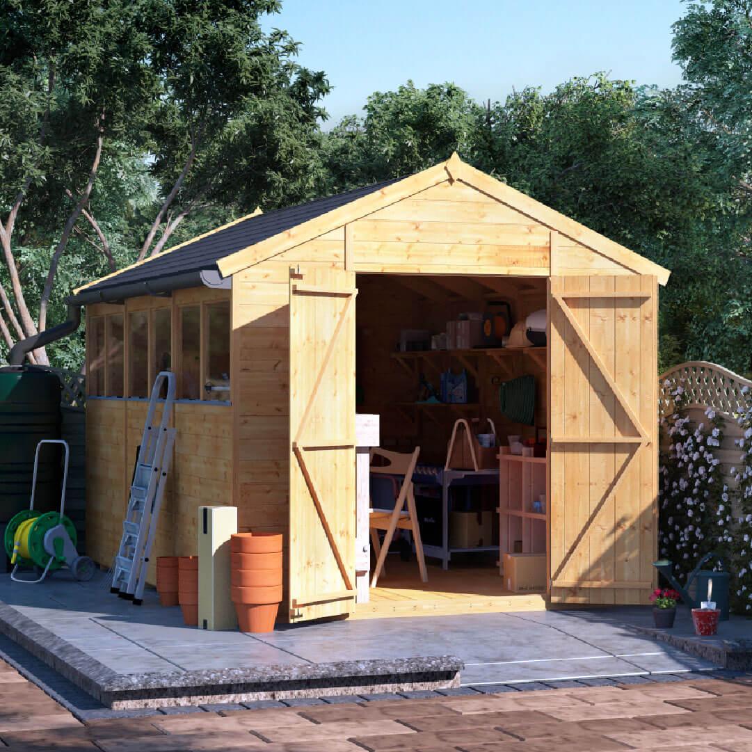12x8 T&G Apex Windowed - BillyOh Expert Garden Shed