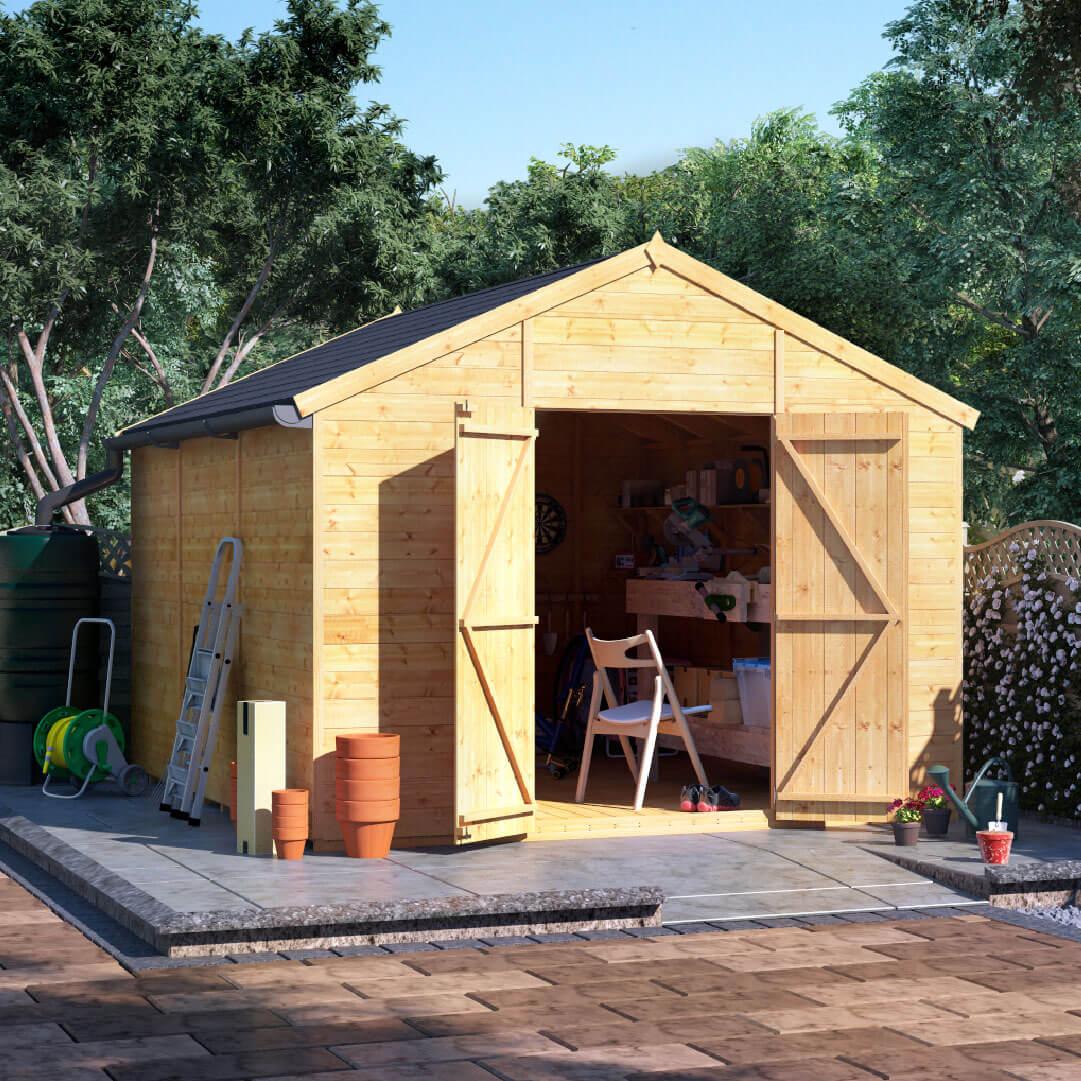 12x10 T&G Apex Windowless - BillyOh Expert Garden Shed