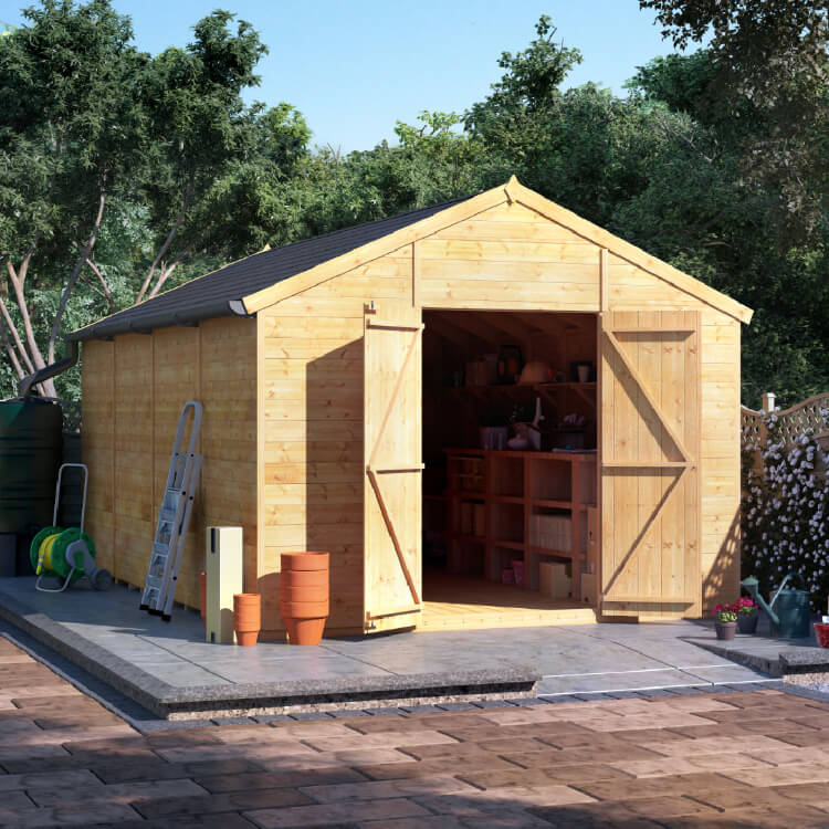 16x10 T&G Apex Windowless - BillyOh Expert Large Garden Shed