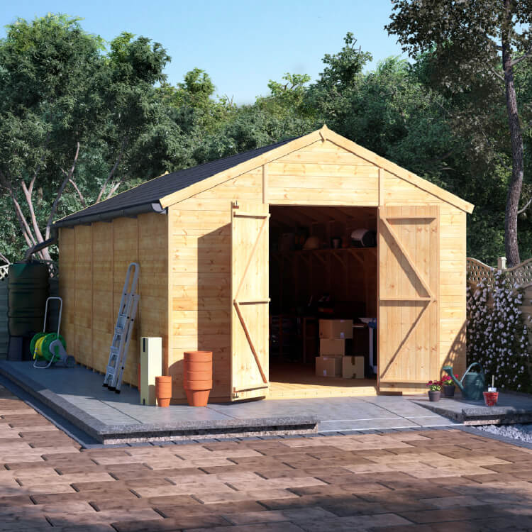 20x10 T&G Apex Windowless - BillyOh Expert Large Shed