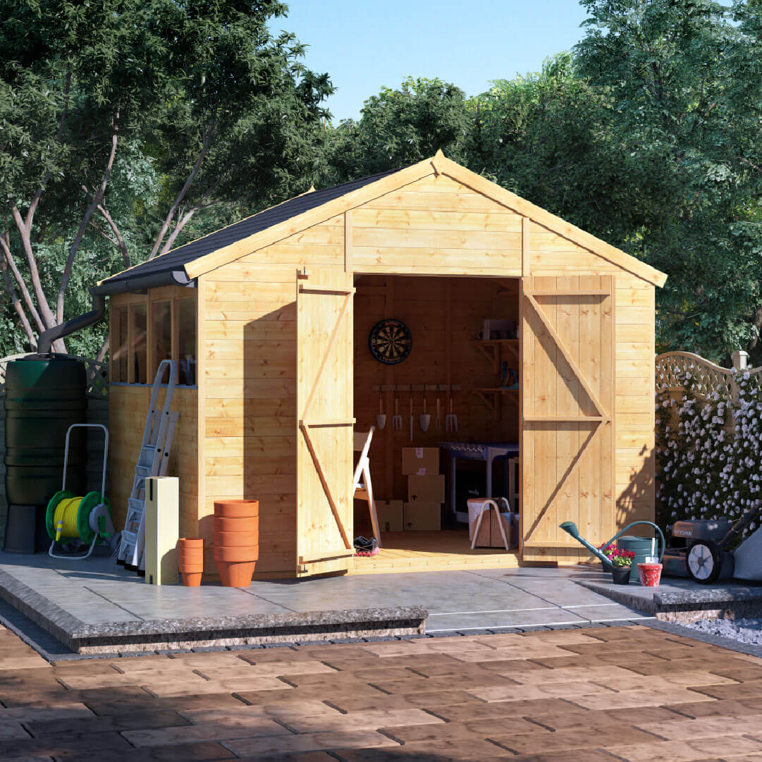 8x10 T&G Apex Windowed - BillyOh Expert Large Shed