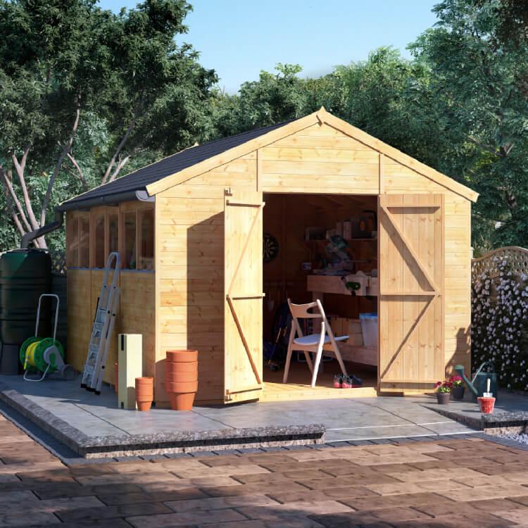 12x10 T&G Apex Windowed - BillyOh Expert Garden Shed