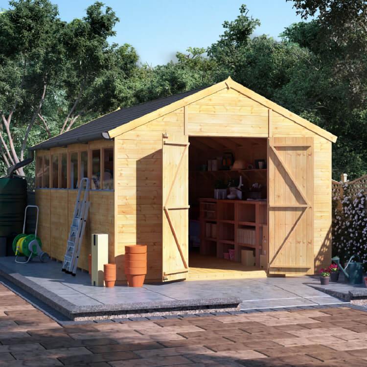 16x10 T&G Apex Windowed - BillyOh Expert Garden Shed