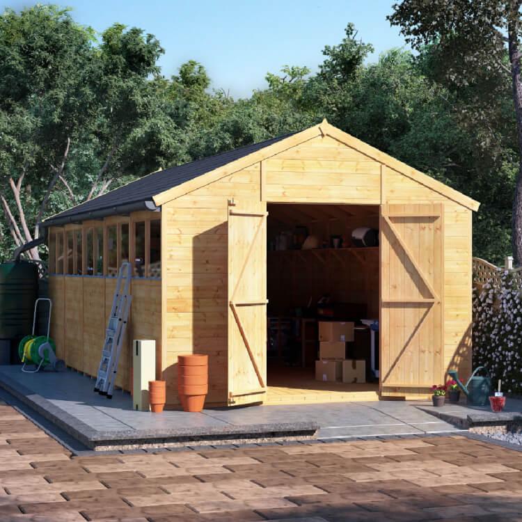 20x10 T&G Apex Windowed - BillyOh Expert Large Garden Shed