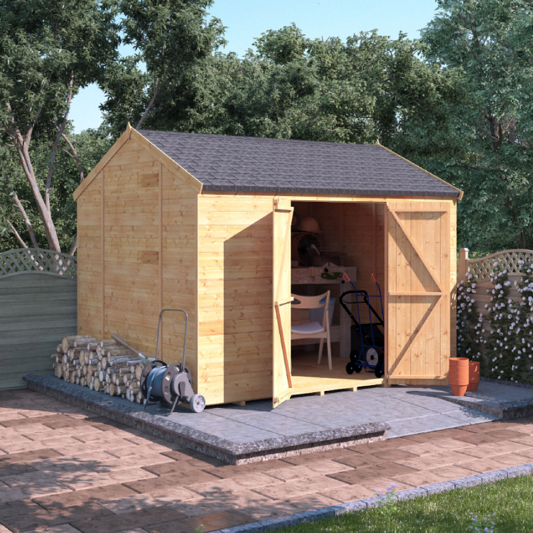 10x8 Tongue and Groove Reverse Apex Windowless - BillyOh Expert Garden Sheds