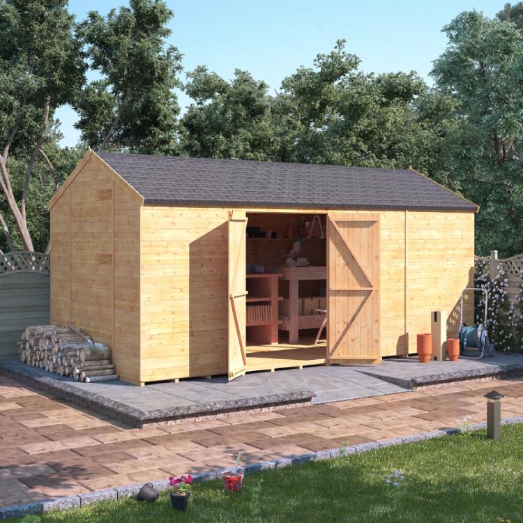16x8 T&G Reverse Apex Windowless - BillyOh Expert Garden Sheds