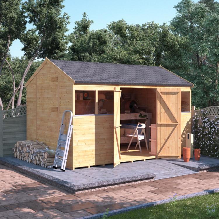 12x8 T&G Reverse Apex Windowed - BillyOh Expert Timber Garden Shed