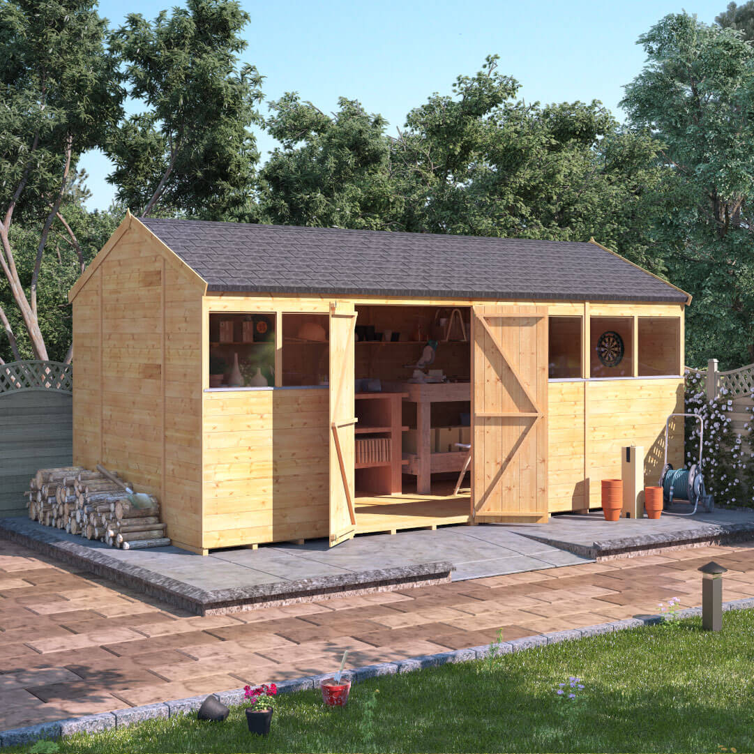 16x8 T&G Reverse Apex Windowed - BillyOh Expert Garden Sheds