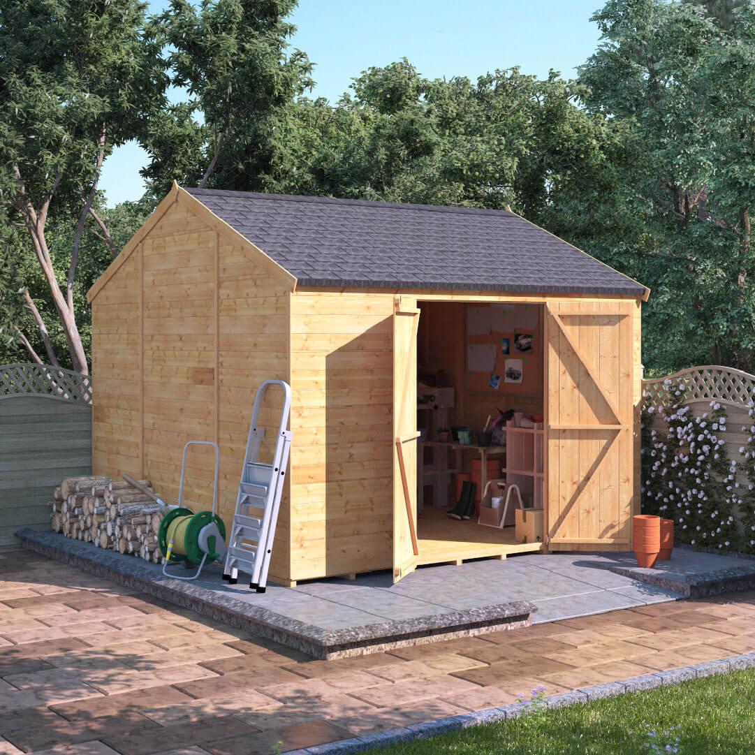 10x10 T&G Reverse Apex Windowless - BillyOh Expert Garden Sheds