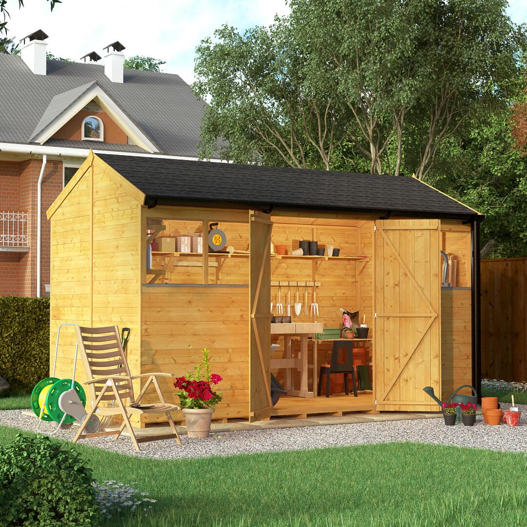 12x6 T&G Reverse Apex Windowed - BillyOh Expert Garden Sheds
