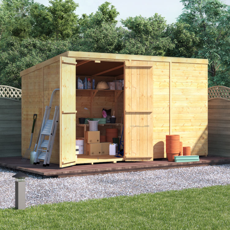 Image of 10 x 6 BillyOh Master Tongue and Groove Pent Wooden Windowless Garden Shed