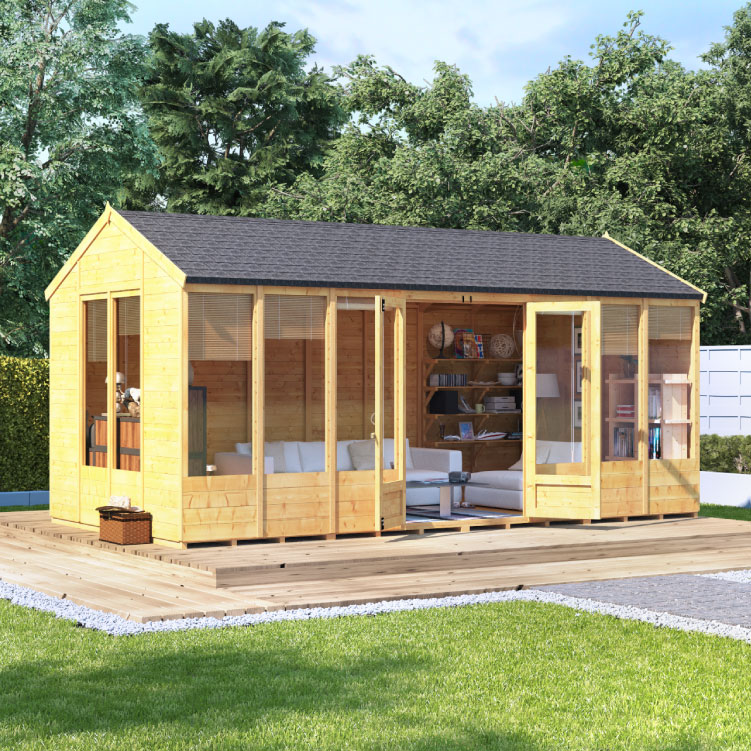 BillyOh Petra Tongue and Groove Reverse Apex Summerhouse - PT-8x8 T&G Reverse Apex Summerhouse