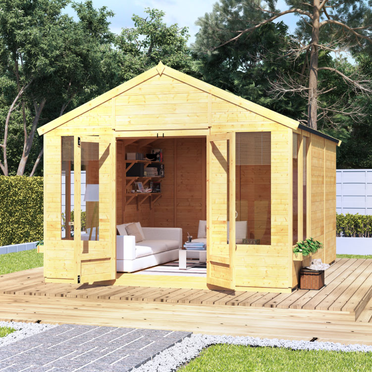 Image of 10 x 10 BillyOh Holly Tongue and Groove Apex Roof Garden Summerhouse